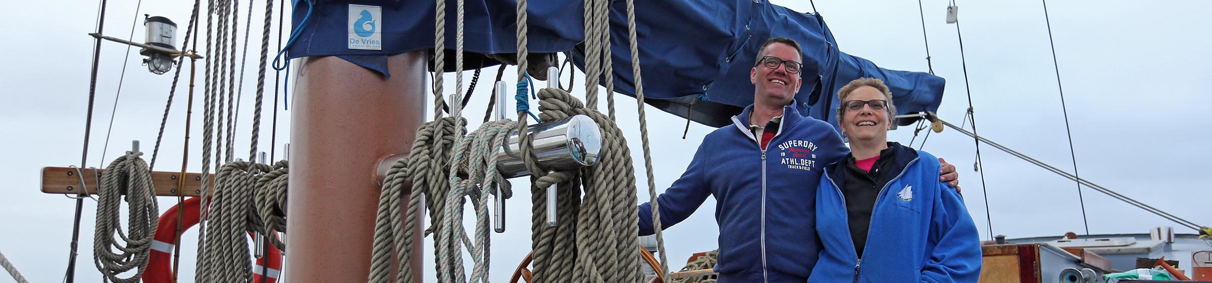 Bemanning van de Gouwzee Steffie Kranz en Evert Jan Muurling